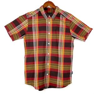Patagonia Red & Yellow Plaid Button Down